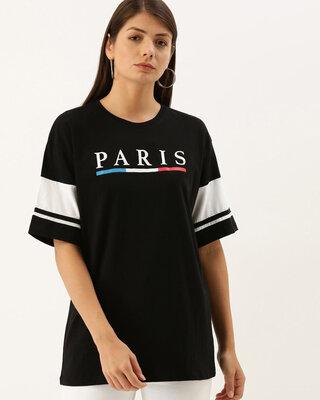 Shop Dillinger Black Typographic T-shirt-Front