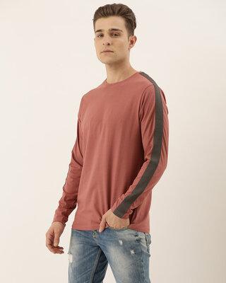 Shop Dillinger Pink Plain T-shirt-Front
