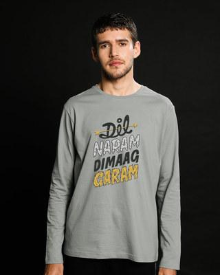 Shop Dimaag Garam Full Sleeve T-Shirt-Front