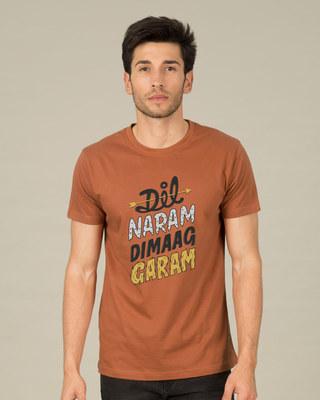 Shop Dimaag Garam Half Sleeve T-Shirt-Front