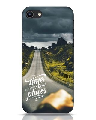Shop Discover New Places iPhone SE 2020 Mobile Cover-Front
