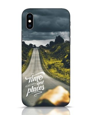 Shop Discover New Places iPhone XS Mobile Cover-Front