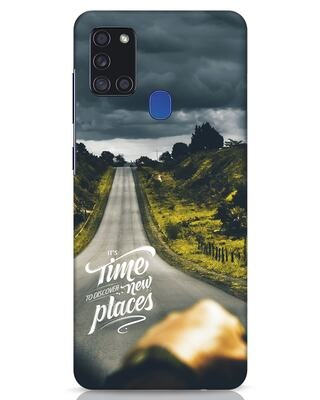 Shop Discover New Places Samsung Galaxy A21s Mobile Cover-Front