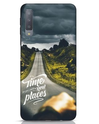 Shop Discover New Places Samsung Galaxy A7 Mobile Cover-Front