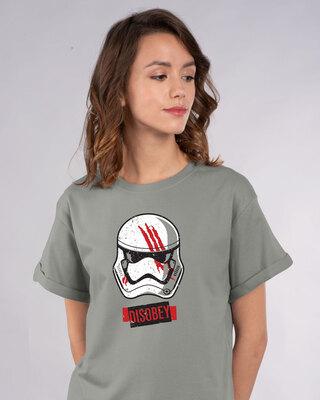 Shop Disobey Boyfriend T-Shirt (SWL)-Front