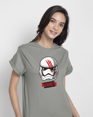 Shop Disobey Boyfriend T-Shirt (SWL)-Front