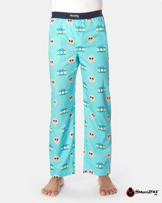 Shop Smugglerz Disposable Camera Pyjamas Blue-Front