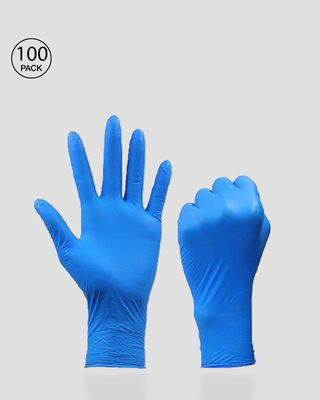 Shop Disposable Hand Gloves (Pack of 100)-Front