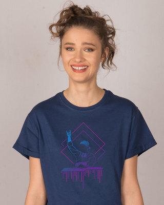 Shop Dj Dude Boyfriend T-Shirt-Front