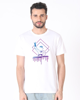 Shop Dj Dude Half Sleeve T-Shirt-Front