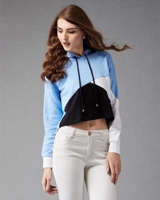 Shop Dolce Crudo Desert Desires Colour-block Sweatshirt-Front