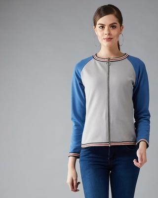 Shop DOLCE CRUDO Fast Feeling Colourblock Jacket-Front