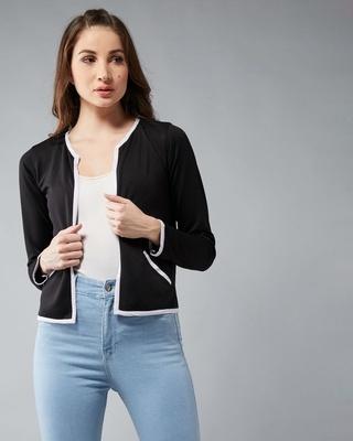Shop DOLCE CRUDO Get Your Freak Contrast Jacket-Front