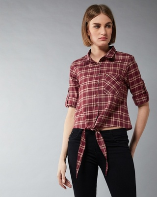 Shop Dolce Crudo I Don't Care Knotted Top-Front
