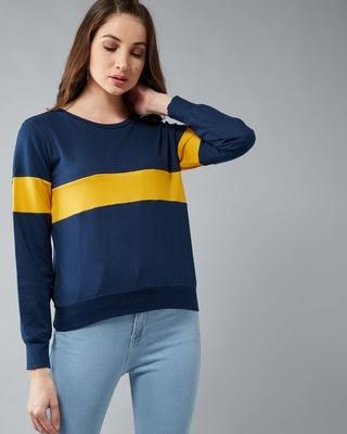 Shop Dolce Crudo Nice For What Colour Block Sweatshirt-Front