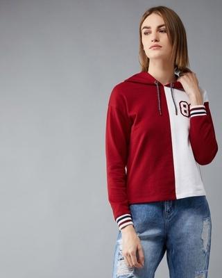 Shop DOLCE CRUDO Right Direction Colourblock Sweatshirt-Front