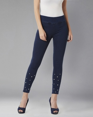 Shop DOLCE CRUDO We Own The Pearl Jeggings-Front