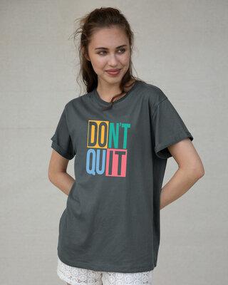 Shop Don't Block Boyfriend T-Shirt-Front
