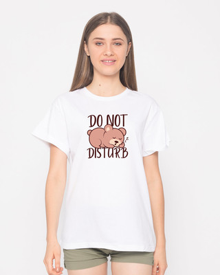 Shop Don't Disturb Boyfriend T-Shirt-Front