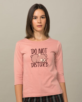 Shop Don't Disturb Round Neck 3/4th Sleeve T-Shirt-Front