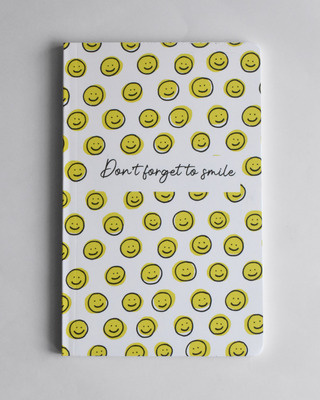 Shop Don't forget to Smile Soft Bound Notebook-Front