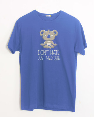Shop Don't Hate Half Sleeve T-Shirt-Front