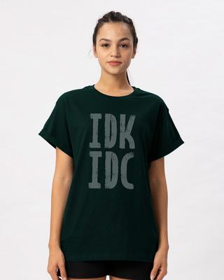 Shop Don't Know Don't Care Boyfriend T-Shirt-Front