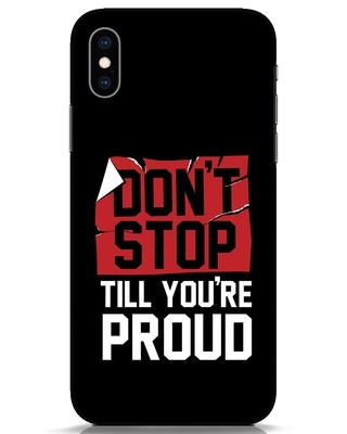Shop Don't Stop iPhone XS Mobile Cover-Front