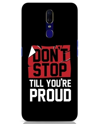 Shop Don't Stop Oppo F11 Mobile Cover-Front