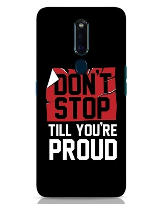 Shop Don't Stop Oppo F11 Pro Mobile Cover-Front