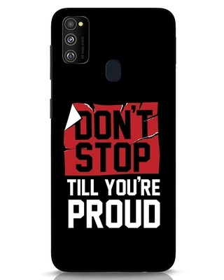 Shop Don't Stop Samsung Galaxy M30s Mobile Cover-Front