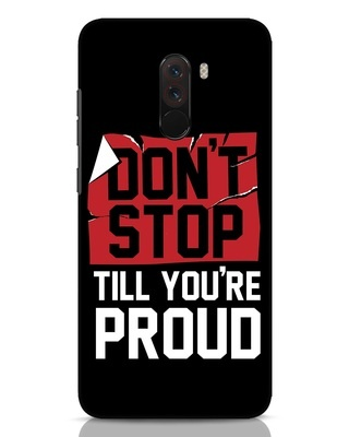 Shop Don't Stop Xiaomi POCO F1 Mobile Cover-Front