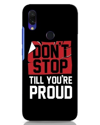 Shop Don't Stop Xiaomi Redmi Y3 Mobile Cover-Front