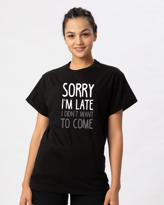 Shop Don't Want To Come Boyfriend T-Shirt-Front
