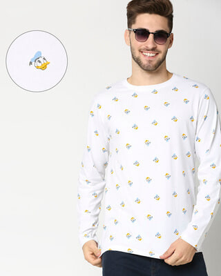 Shop Donald Duck AOP Full Sleeves T-Shirts-Front