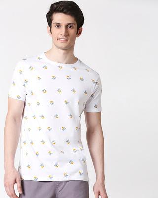 Shop Donald Duck (DL) Half Sleeves AOP T-Shirt-Front