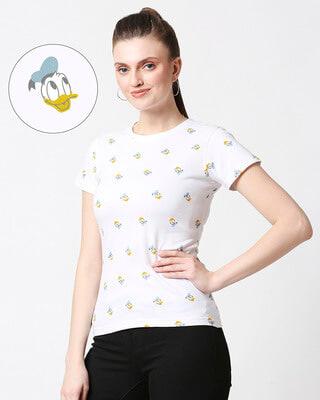 Shop Donald Duck (DL) Half Sleeve AOP T-Shirt-Front