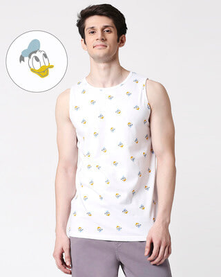 Shop Donald Duck (DL) Round Neck AOP Vest-Front
