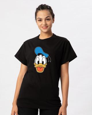 Shop Donald Face Boyfriend T-Shirt (DL)-Front