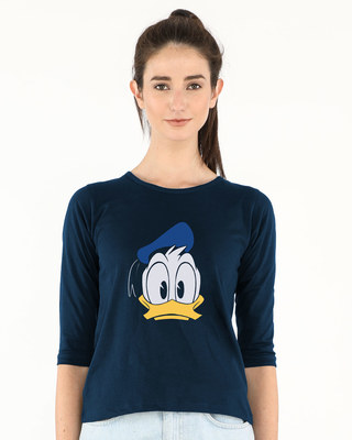 Shop Donald Round Neck 3/4th Sleeve T-Shirt (DL)-Front