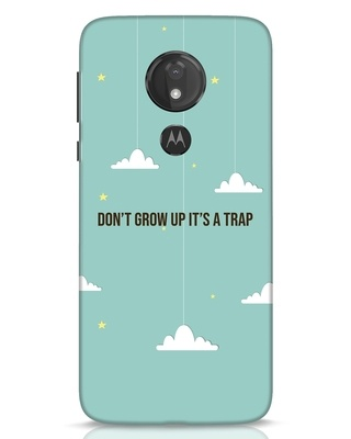 Shop Dont Grow Up Moto G7 Power Mobile Cover-Front