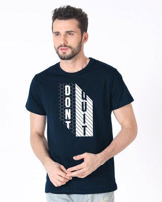 Shop Dont Quit Mesh Half Sleeve T-Shirt-Front