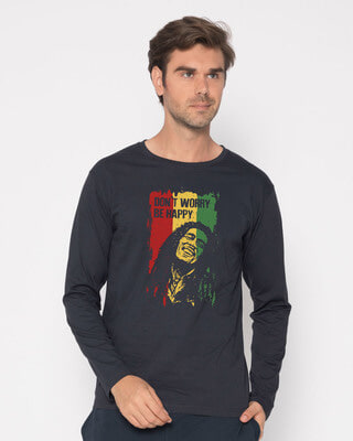Buy Dont Worry Be Happy Full Sleeve T-Shirt Online India @ Bewakoof.com