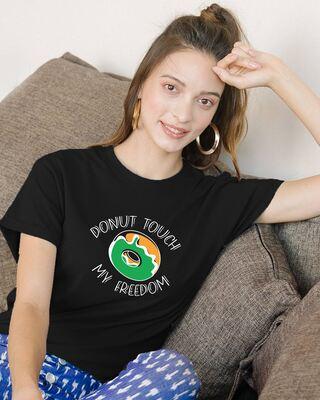 Shop Donut Touch Women's Boyfriend T-Shirts-Front