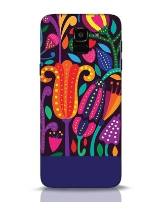 Shop Doodle Flowers Samsung Galaxy J6 Mobile Cover-Front
