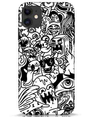 Shop Doodle Monsters iPhone 11 Mobile Cover-Front