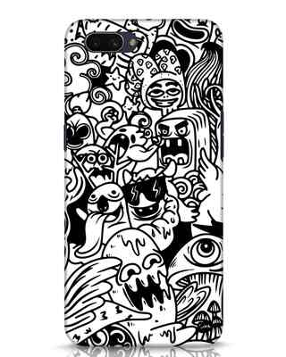 Shop Doodle Monsters Oppo A3S Mobile Cover-Front