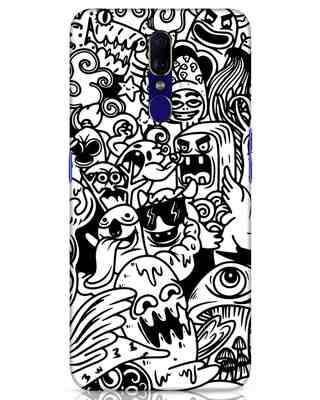 Shop Doodle Monsters Oppo F11 Mobile Cover-Front