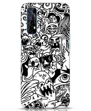 Shop Doodle Monsters Realme 7 Mobile Cover-Front