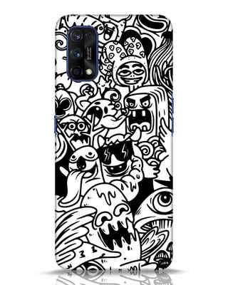 Shop Doodle Monsters Realme 7 pro Mobile Cover-Front